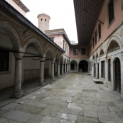The concubines' and consorts' courtyard inside the harem at Topkapi Palace