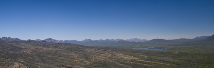 Looking south into Grampians National Park from The Balconies
