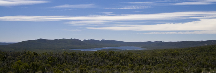 Looking north into Grampians National Park at Lake Wartook from The Balconies