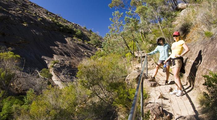 Lisa and Gina near Venus Baths on the way to The Pinnacles