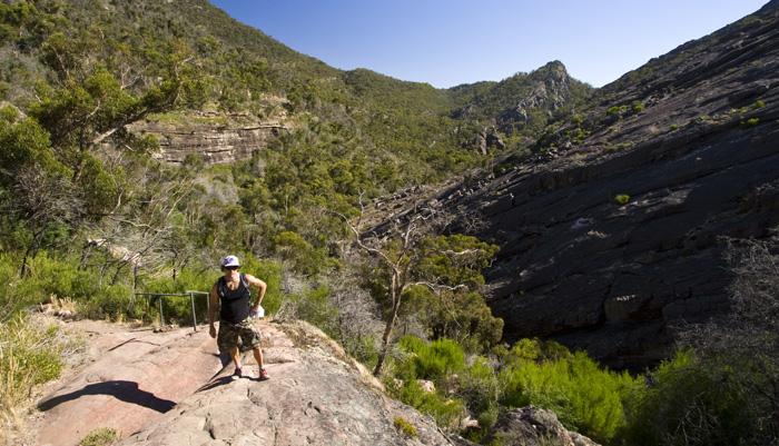 Chris near Venus Baths on the way to The Pinnacles