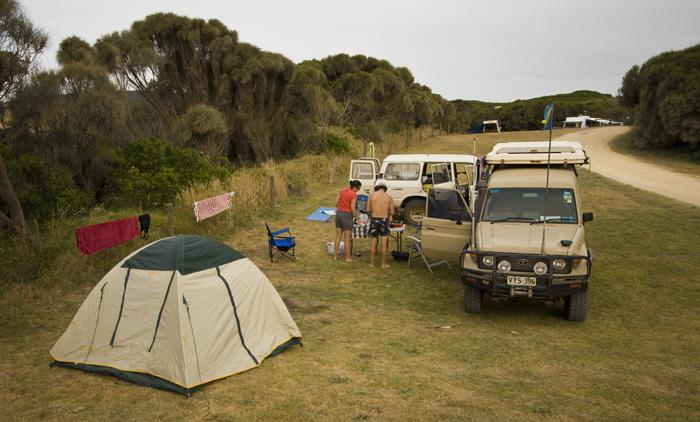 Our campsite at Johanna Beach