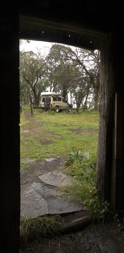The Tank through the door of the Howitt Plains Hut