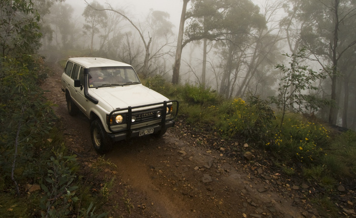 Bessie tackling the perilous Zeka Spur Track