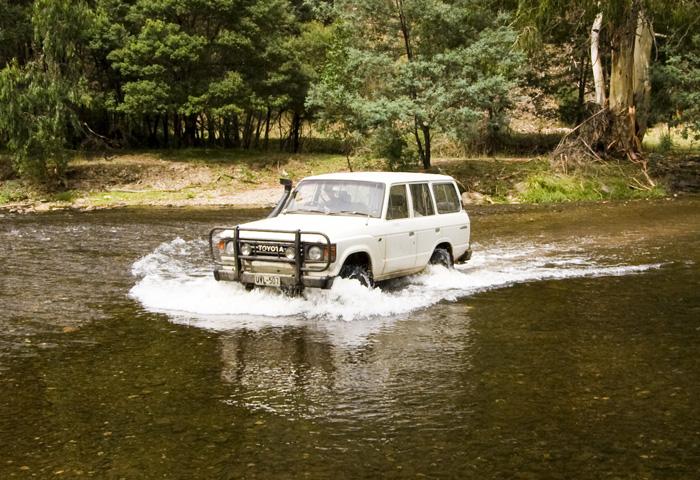 Bessie crossing the Wonnongatta River near Talbotville