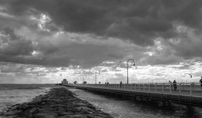 A stormy Saint Kilda Pier