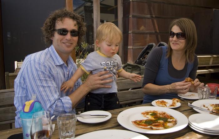 Simon and his family at Montalto Estate