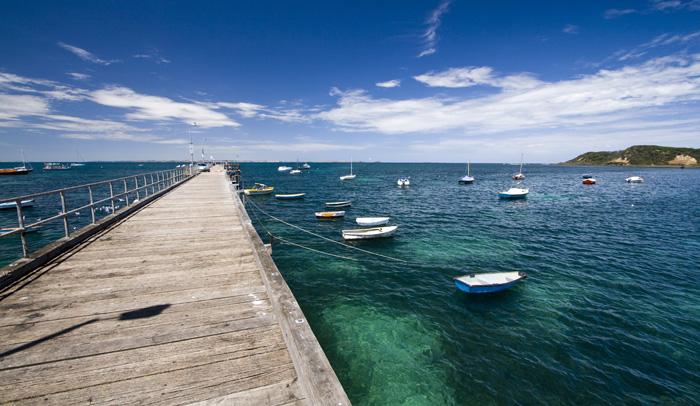 The jetty at Flinders on the south coast of Mornington Peninsula