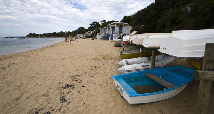 The beach at Portsea