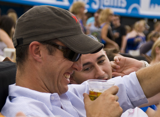 Jarrod and Greg enjoying a few beers