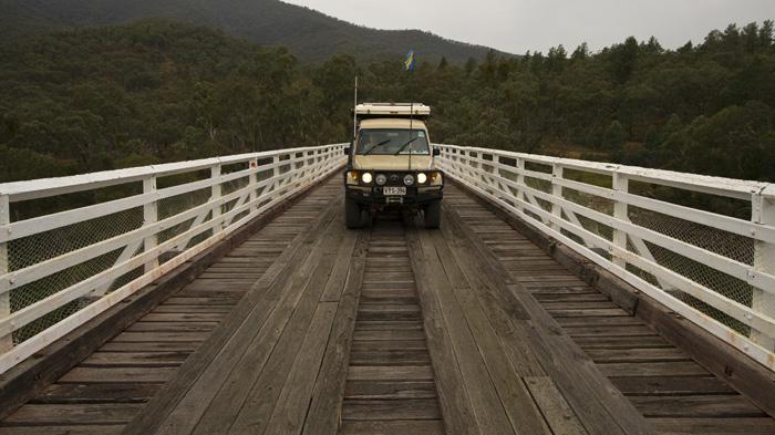 The Tank crossing McKillops Bridge