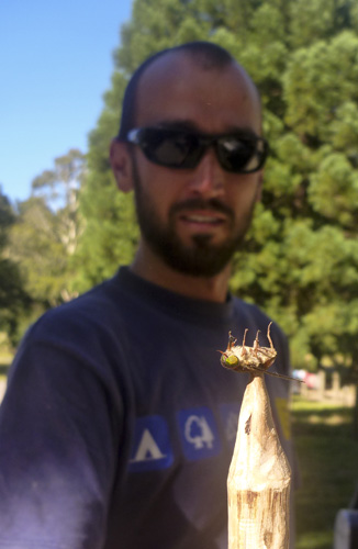 Sam and one of the many March Flies in the Otway Ranges
