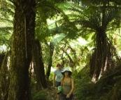 Gina and Lisa hiking to Phantom Falls