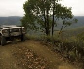 Bessie motoring up the Wombat Spur Track