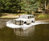 Bessie crossing the Wonnongatta River near Talbotville