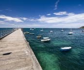 The jetty at Flinders on the south coast of Mornington Peninsula