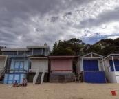 Beach huts on the beach at Portsea