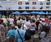 The throngs making their way into the Australian Open