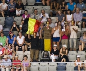 Belgian fans in the Hisense Arena