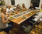 Dinner at Jarrod and Stacey's in Melbourne