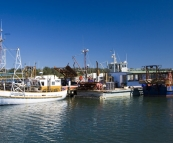 Fishing boats in the harbour at Lakes Entrance