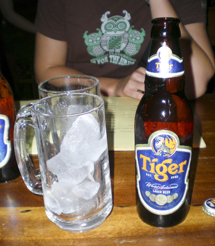 The only time I\'ve ever been served a glass with ice to go along with my beer!