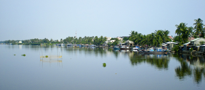 The river between Hoi An and the beach