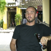 Enjoying a beer in Hoi An\'s old town