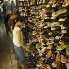 Lisa in shoe heaven in Ben Tanh Market