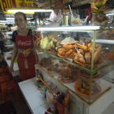 One of the seafood lunch stalls in Ben Tanh Market