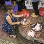 Fresh pig feet in Ben Tanh Market