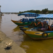 Walking along the river in Hoi An\'s old town