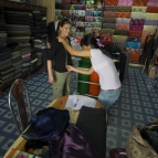 Getting measured for new clothes in Hoi An