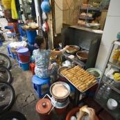 The streetside kitchen at Bung Cha Hang Manh