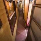 The train cabin on the way from Hanoi to Lao Cai