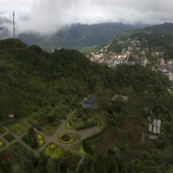 View of Sapa from the top of Ham Rong Mountain