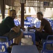 Having lunch near Lao Chai Village