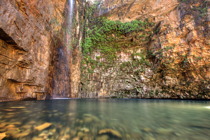 The plunge pool and waterfall at Emma Gorge