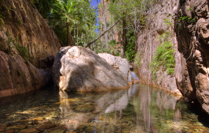 The halfway pool in El Questro Gorge