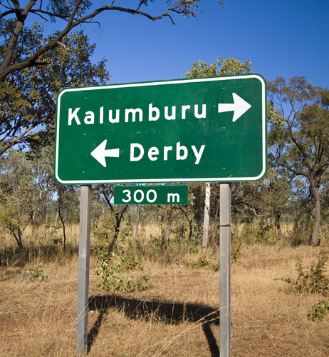 The turnoff to Kalumburu