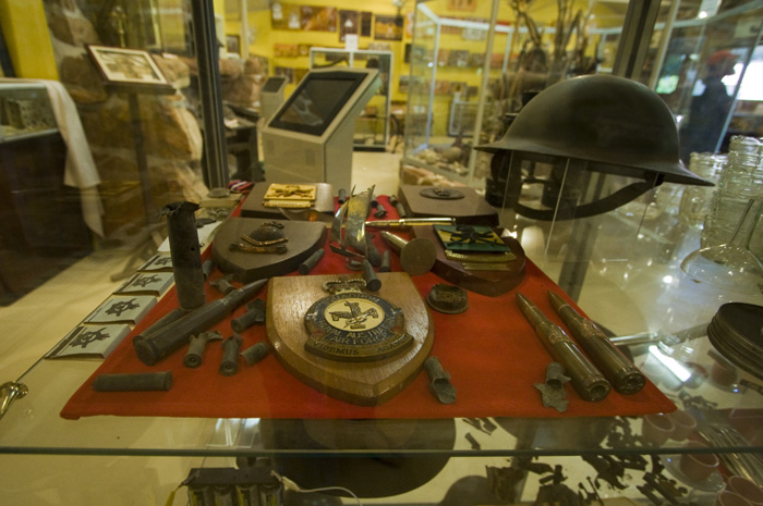 WWII artifacts in the Kalumburu Mission museum