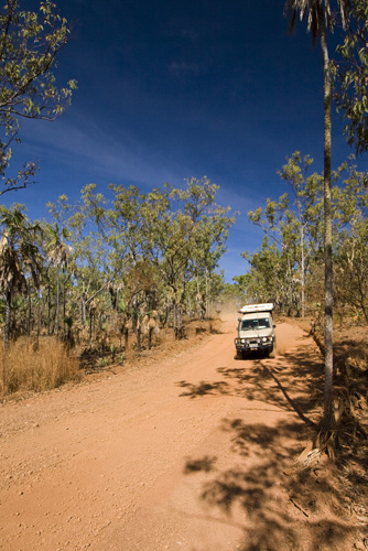 The road back to King Edward River from Mitchell Falls