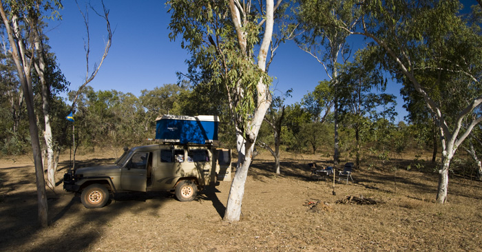 Our campsite next to the Gibb River