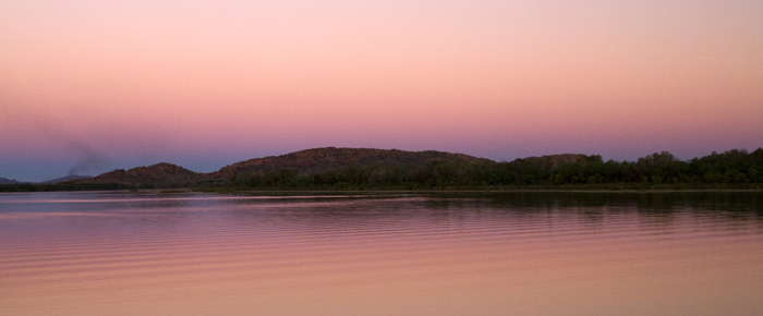 Sunset over Lake Kununurra