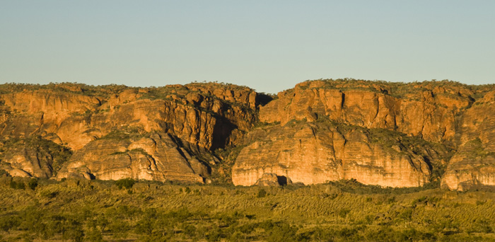 The Bungle Bungle Range illuminated by the sunset
