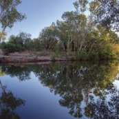 Afternoon reflections from our campsite on the Pentecost River