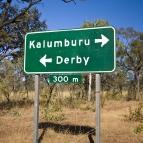 The turnoff to Kalumburu