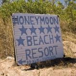 The turnoff to Honeymoon Bay