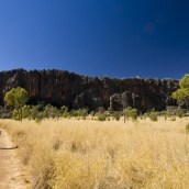 Lisa hiking to Windjana Gorge