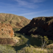 The Ord River leading out of Lake Argyle